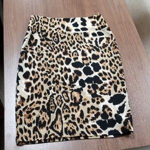 Lularoe leopard skirt small